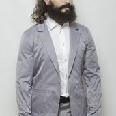 Пиджак мужской на одной пуговице Стальной