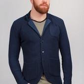 Пиджак мягкий, блейзер мужской Темно-Синий