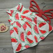 Платье с арбузиками Next (6-9 мес)