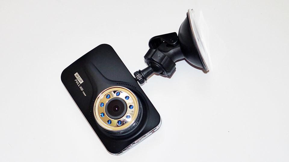 Видеорегистратор dvr t639 full hd с выносной камерой заднего вида фото №1