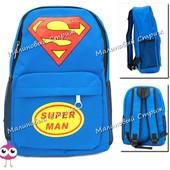 Детский рюкзак Супермен, синий рюкзак для мальчика