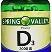 Витамин D3 от Spring valley 50 мг 2000 iu - 200 шт. США.