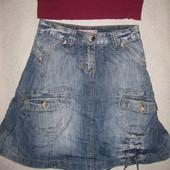 8-9 лет, джинсовая итальянская юбка Vingino, очень крутая!