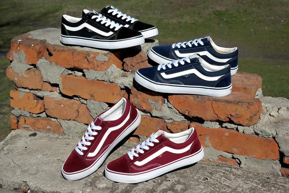 Мужские кеды vans old skool, шикарное качество, стильная и ноская обувь 40-45 рр фото №1