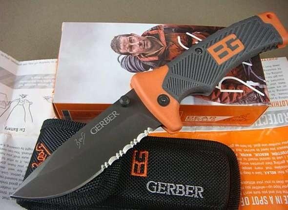 Нож 23см складной походный gerber bear grylls фото №1