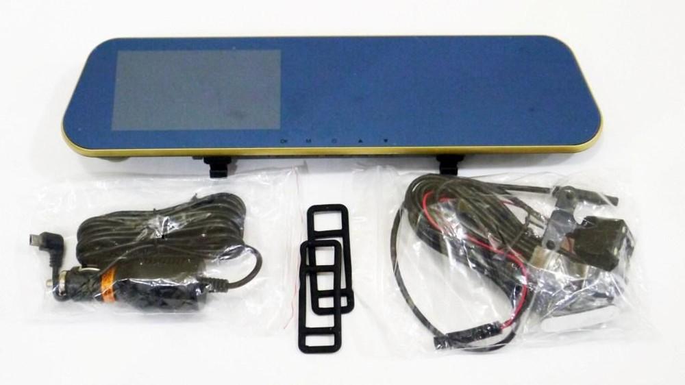 """Dvr xh303tp full hd зеркало с видео регистратором с камерой заднего вида. 4.3"""" сенсорный экран фото №1"""