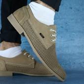 Туфли Yuves с перфорацией, р. 40-45, код gavk-10121