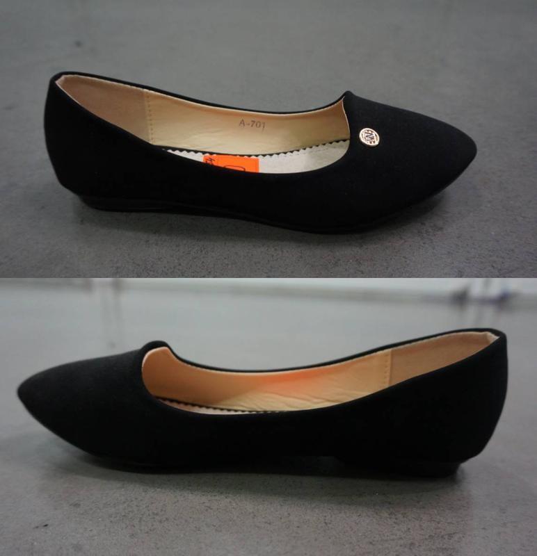 Замшевые балетки - качество супер! черный цвет фото №4