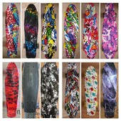 Скейт пенни борд Penny Board граффити, свет колёс