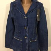 Новый джинсовый пиджак с вышевкой -60% распродажа! м/л/ хл / 2хл