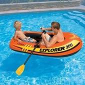 Intex Лодка Explorer 58331 весла, насос, 185-94-41см