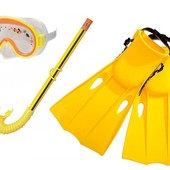 Intex Набор для плавания 55954, размер S 35-37, ласты, маска, трубка, в кульке
