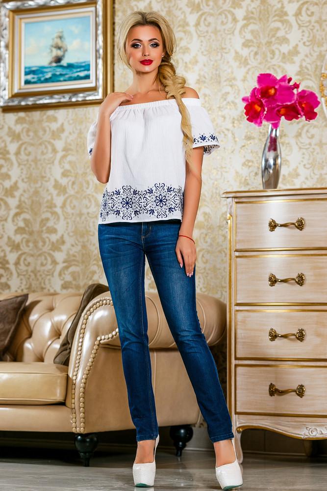 Блуза из хлопка 42-44,46-48 размеры  5 расцветок фото №1
