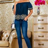 Блуза из хлопка 42-44,46-48 размеры  5 расцветок