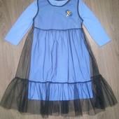 Стильное платье двойка и евро фатин в ассортименте 122-146