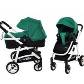 Универсальная коляска-трансформер 2в1 carrello fortuna CRL-9001 basil green 2в1 c матрасом
