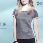 Серая футболка из плотной ткани размер S, 23-63 Ю