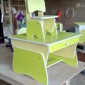 Столик и стульчики для двоих малышей с регулировкой высоты. Николаев