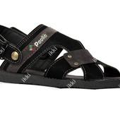42 р Мужские сандалии - шлепанцы 2в1 черные (ЛС-04ч)