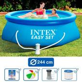 28112 (56972) бассейн 244х76 см + фильтр насос Intex Интекс