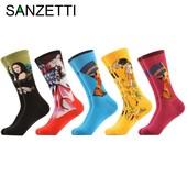 Необычные носки с рисунком мировых художественных шедевров, размер 40-47, новые