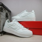 Мужские белые кеды Nike AirForce, р 41-45, код gavk-10930