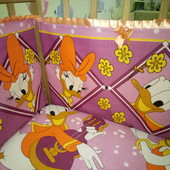 Набор: кроватка, матрас, бортики(защита), кармашки, наматрасник, пеленка