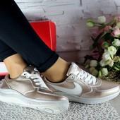 Повседневные кожаные кроссовки Nike, р. 36-39, код gavk-10812