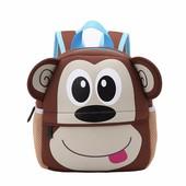 Рюкзак детский из неопрена для мальчика и для девочки. Обезьянка