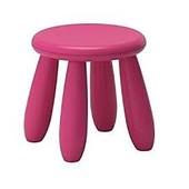 Табурет детский, д/дома/улицы, малиновый  Икеа Маммут, 302.675.59 Mammut Ikea В наличии!
