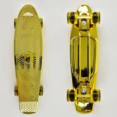 Скейт Fish Skateboards, доска 55см, колёса pu d 6см, свет