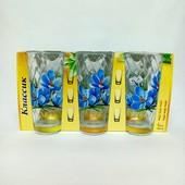 Набор стаканов 230 мл Классик Цветы Микс 05с1259(6 штук)
