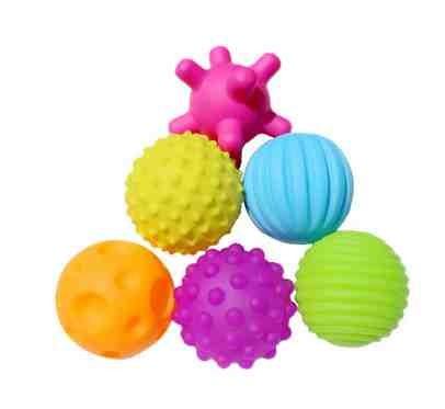 Сенсорные мячики,6шт  в пакете фото №1