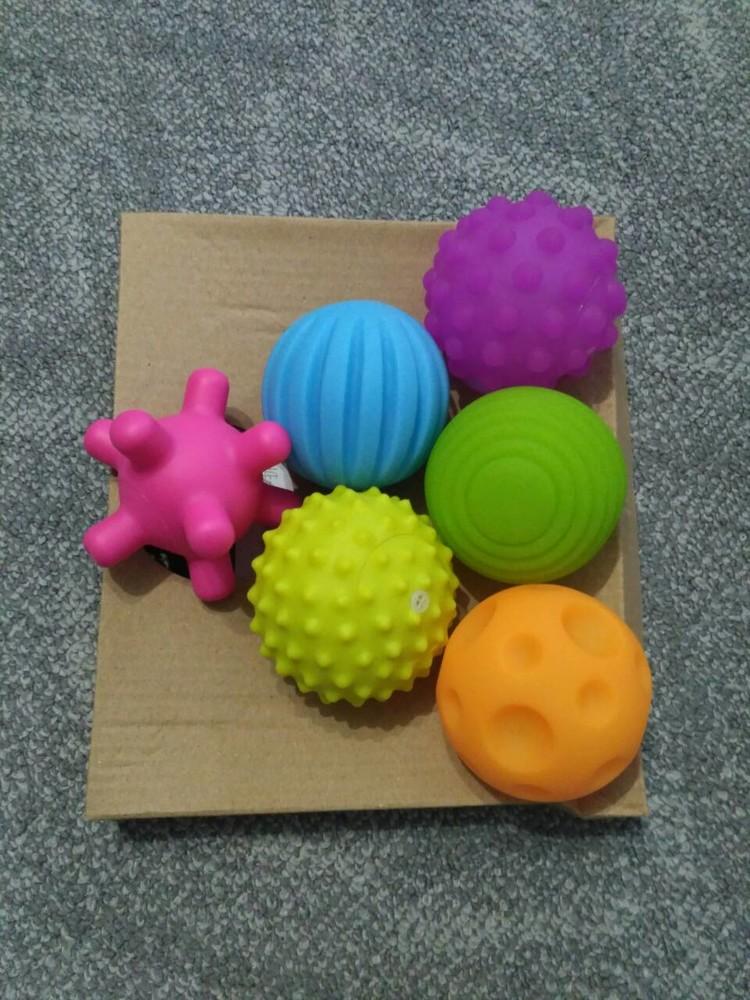 Сенсорные мячики,6шт  в пакете фото №2