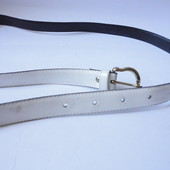 Белый кожаный ремень 18мм х 108см
