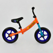 Велобег corso С 7560 оранжевый, стальная рама, колесо 12 eva пена