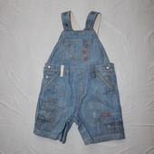 1-2 года, р. 80-92 джинсовый ромпер шорты полукомбинезон Next