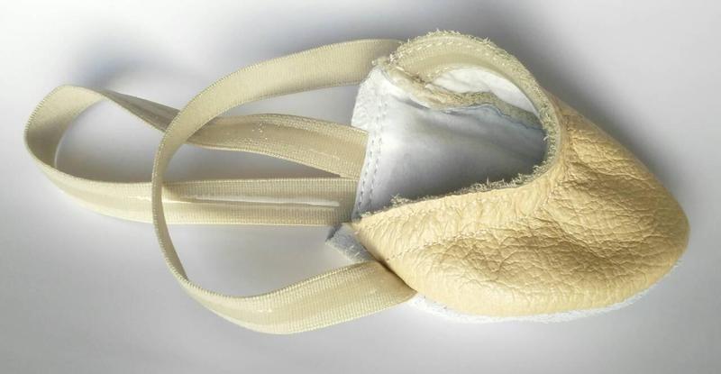 Получешки кожаные для девочки matita 31, 32, 33, 34, 35(р) бежевый 1221  получешки кожаные фото №1