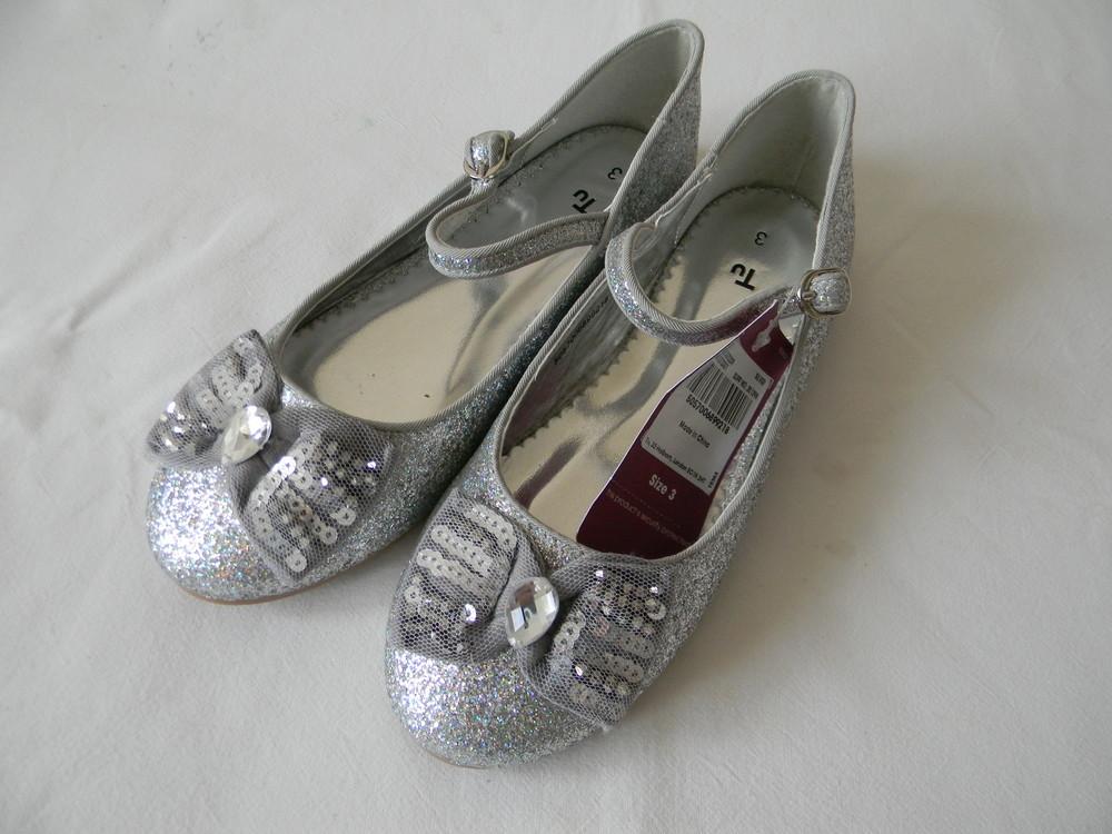 Серебряные туфли tu  р. 3 ( 36). фото №1