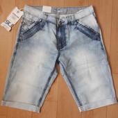 Мужские джинсовые шорты р. 33 наш 50