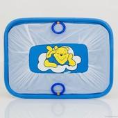"""Манеж игровой Kinderbox Люкс с мелкой сеткой """"Винни Пух"""" (синий)"""