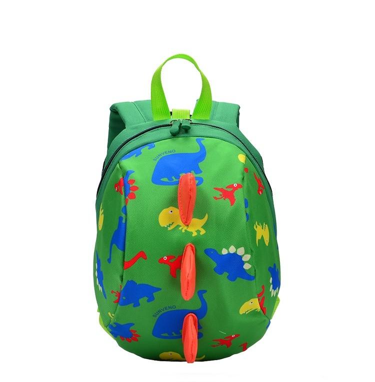 Детский рюкзак динозавр, зеленый фото №1