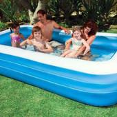Детский надувной бассейн Intex 58484 прямоугольный, 305 х 183 х 56 см
