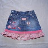 6-12 мес., р. 62-80, модная джинсовая юбка Movvis Mouse