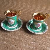 Коллекционные чашки ГДР , кобальт, форфор