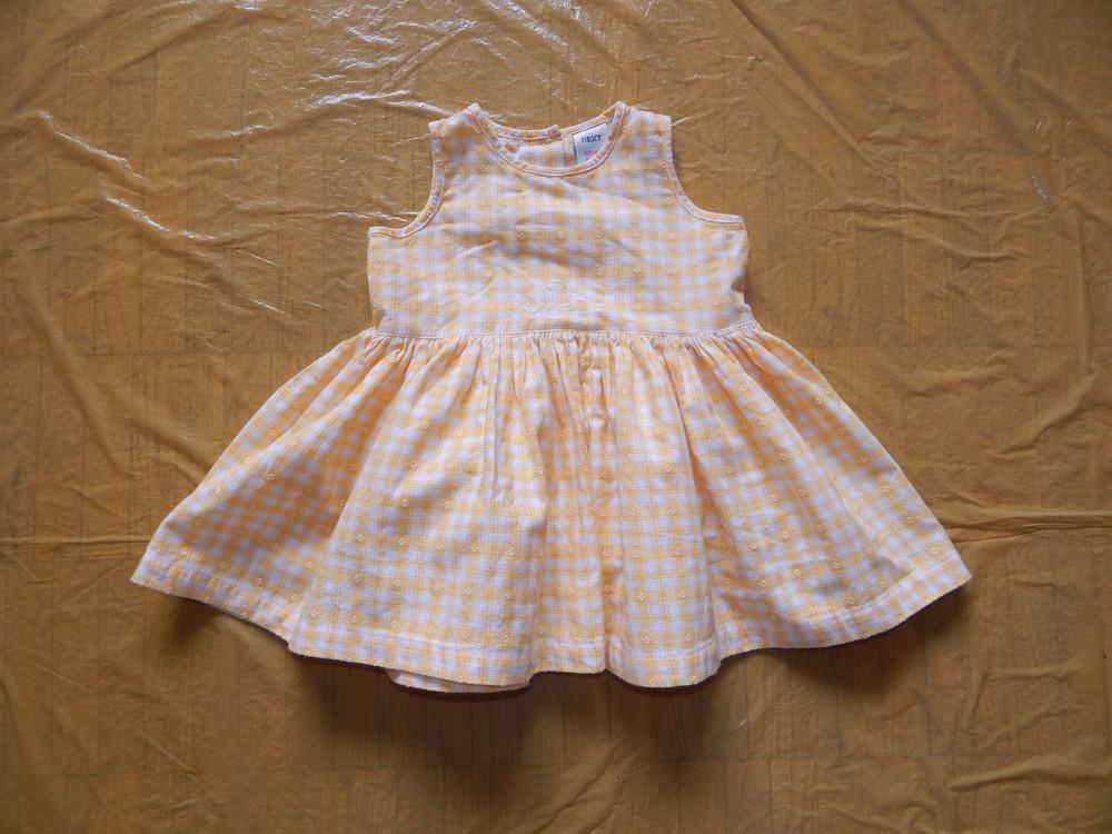 6-18 мес., р. 68-86 летний сарафан платье next платьице сарафанчик фото №1