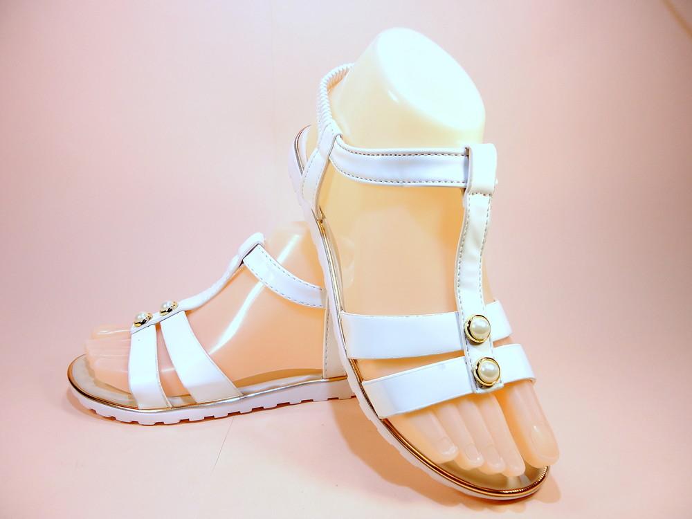 Босоножки сандалии белые черные бежевые. размер 36-41. фото №1