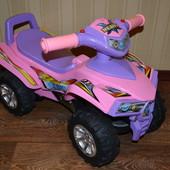 Машинка-каталка, толокар Baby Mix HZ-551 розовая, квадрацикл
