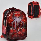 Рюкзак школьный N 00211 Spider-Man 2 кармана, спинка ортопедическая