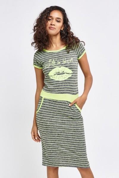 Luc-ce летнее платье в полосочку «губы» р.м-l фото №1